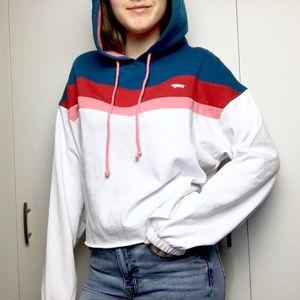 NWT ✩ VANS Inverse Colourful Striped Hoodie